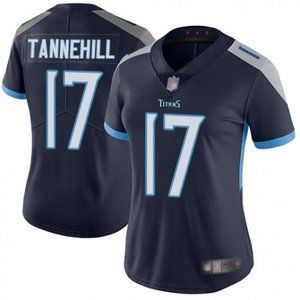 Women Titans Ryan Tannehill Navy Jersey
